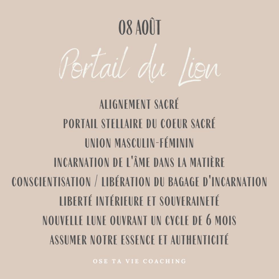 08 août : Le Portail du Lion